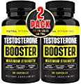 Natural Testosterone Booster for Men - Male Enhancing Supplement Test Booster Pills with Tongkat Ali & Horny Goat Weed - Enhance Muscle Growth, Stamina, Energy, Endurance, Strength, and Size (2 Pack)