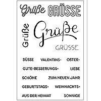 DIYのスクラップブッキング/写真アルバムのドイツ語の透明な透明なシリコーンスタンプ/シール装飾的なクリアスタンプ2dhg