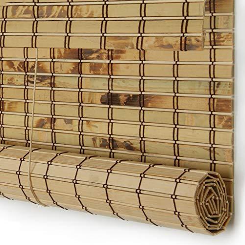 Estores enrollables Cortina Enrollable para Puerta - Dormitorio de la Cocina Persiana Toldos, bambú, 100cm / 110cm / 120cm / 130cm de Ancho (Color : B, Tamaño : 130×190cm)