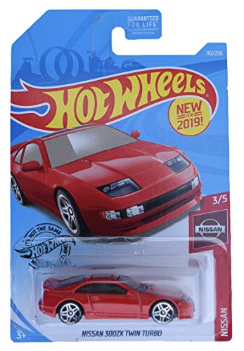 Hot Wheels 2019 Nissan Series Nissan 300ZX Twin Turbo 110/250, Red