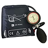Adult Extra Longer Manual Blood Pressure Cuff, 22-42 cm arm Circumference Single Tube Cuff with Pressure Gauge and Inflation Bulb