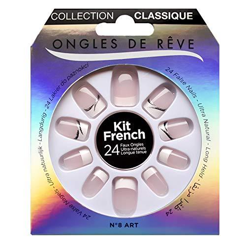KIT FAUX ONGLES ONGLES DE REVE - N°008 ART