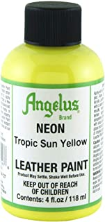 Angelus Leather Paint 4 Oz Neon Tropic Sun Yl