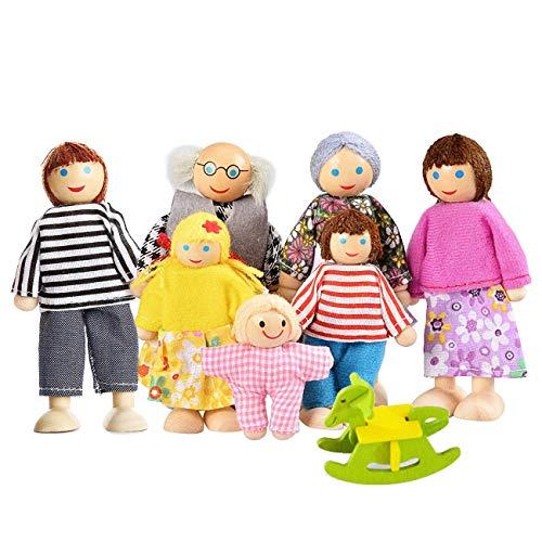 Watme Muñecas de Familia con Muebles de Casa de Conjunto de Juguetes