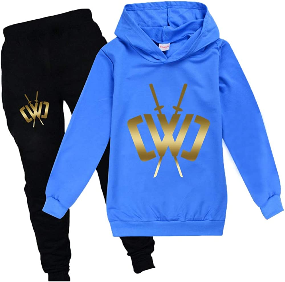 Unisex Hoodie and Sweatpants Tracksuit Sets for Boys Girls Casual 2 Piece Sweatshirt Suit
