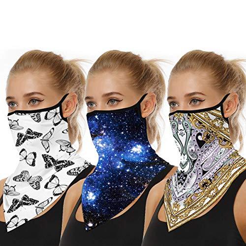 3 x Mund und Nasenschutz Mundschutz Maske Multifunktionstuch Motorrad Winddicht Atmungsaktiv Mundschutz Halstuch Schön Atmungsaktiv Sommerschal