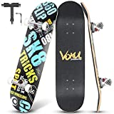 VOKUL Skateboard Completo, 80x20cm Monopatín para Niñas Niños Adolescentes Adultos Principiantes Profesionales, Tabla Skate con ABEC-7 y 7 Capas Monopatín de Madera de Arce Skateboards (SK8)