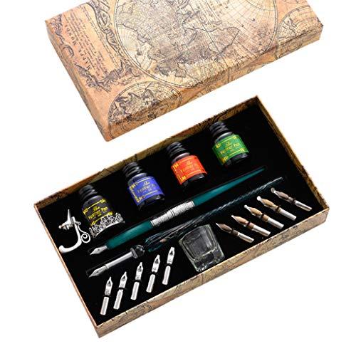 Juego de lápices de caligrafía de vino con 10 soportes para bolígrafos de caligrafía