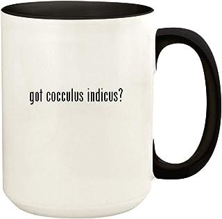 got cocculus Indicus? - 15oz Ceramic Colored Handle and Inside Coffee Mug Cup, Black