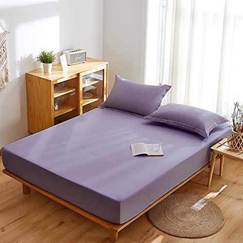 haiba Protector de colchón impermeable transpirable con correas de esquina 150x200+30cm