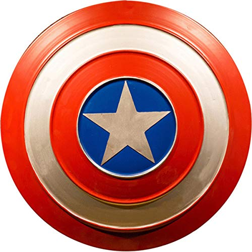 BCCDP 47.5Cm/60CM Escudo Capitan America Metal, Hierro Forjado Capitán América Shield,1: 1 Adulto Apoyos de Película Niños,Serie Avengers Legends,Réplica De Marvel Prop