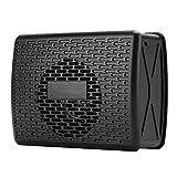 Altavoz Bluetooth Inalámbrico,Caja de Sonido Estereo Universal,AUX Altavoz Inalámbrico Multfuncional,Bocina Reproductor de música de 1200mAh Batería Incorporable,Altavoz Portátil de Radio(Negro)