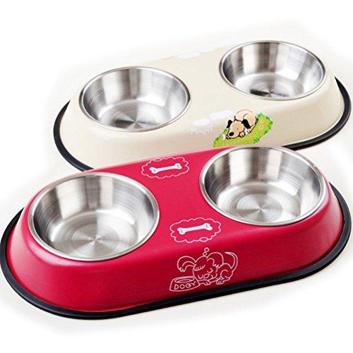 PIXNOR Comedero para mascotas perro gato (color al azar)