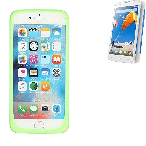 K-S-Trade® Für MobiWire Taima Silikonbumper/Bumper Aus TPU, Grün Schutzrahmen Schutzring Smartphone Case Hülle Schutzhülle Für MobiWire Taima