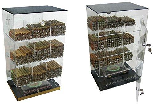 Prestige Import Group - The Roosevelt Large Acrylic Display Cigar Humidor - Capacity: 250