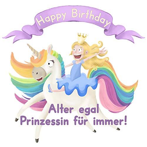 Flaschenetikett - Alter egal, Prinzessin für immer – Geschenk zum Geburtstag für zeitlose Frauen, selbstklebend, witziges Geburtstagsgeschenk für Frau, Freundin, Kollegin, Geschenkidee für jedes Alter