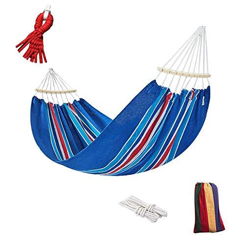 YLJYJ Hamac bâton en Toile, Rollover Proof, lit balançoire Ultra-léger, pour Garden Beach Travel Hamac Outdoor, Blue