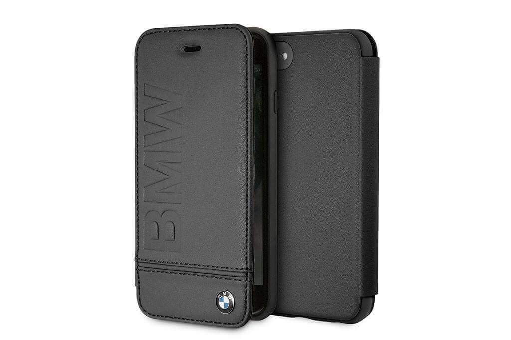 BMW BMFLBKI8LLSB - Funda Tipo Libro para iPhone 8, diseño con Logotipo de BMFLBKI8LLSB, Color Negro: Amazon.es: Electrónica