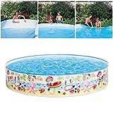 OTTF - Piscina infantil Deep Dive, piscina familiar, para exteriores, jardín, a partir de 3 años