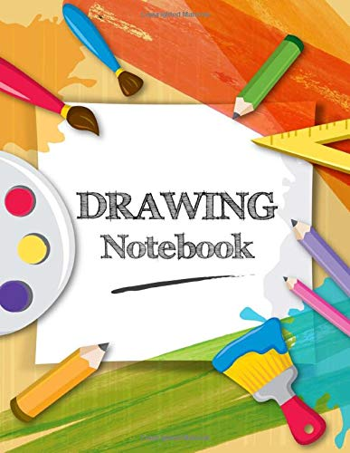 Drawing Notebook: 101 Blank Pages, 8.5 x 11 inches, Personalized Artist Sketchbook, Doodling, Sketching, Drawing, Creative Doodling, Notebook and Sketchbook to Draw and Journal