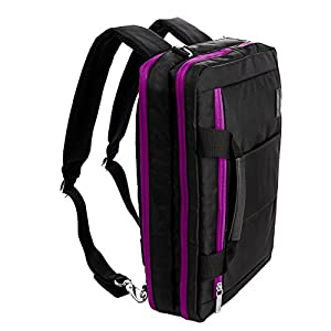 "Purple Convertible Laptop Bag for Asus ROG, AsusPro, Transformer Book, VivoBook, Q Series, ZenBook 14"" to 15.6 inch"