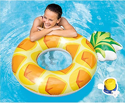 SHSM Fruit Pool Float Giant Inflatable Pine Pool Float, Water Fun Summer Beach Swimming Pool, Adult and Children Leisure Raft Parent-child Activities Hot Springs Parks