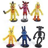 BESTZY 6pcs Five Nights at Freddy's, Five Nights At Freddy Modelo de decoración Modelo de personaje animado Regalo (3,8 pulgadas)