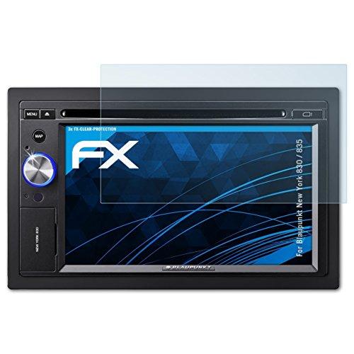 atFoliX Schutzfolie kompatibel mit Blaupunkt New York 830/835 Folie, ultraklare FX Displayschutzfolie (3X)