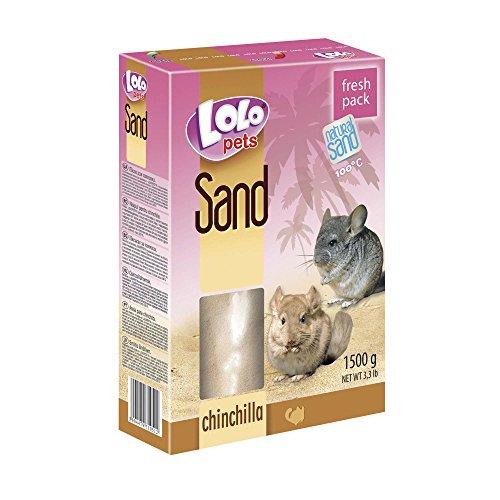 Lolo Pets Sand für Chinchillas, 2er Pack (2 x 1.5 kg)