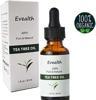 Premium Certified 100% Pure Essential Tea Tree Oil (1oz) Undiluted,Therapeutic Grade for Acne treatment,Skin Tag Remover,Toenail Fungus Treatment,Athletes Foot Soak, Hair Lice treatment