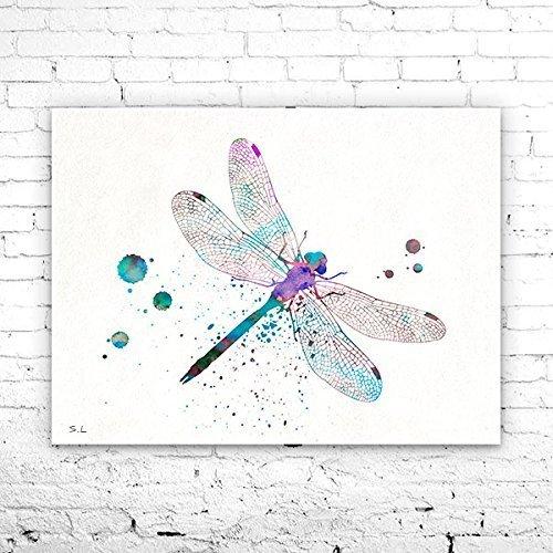 Dragonfly Watercolor Print,Dragonfly Art ,animal watercolor, watercolor painting, animal art, Insect art, Dragonfly PRINT