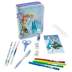 Disney Store Frozen Elsa Anna Stationary Art Case Kit School Supplies Zip-Up