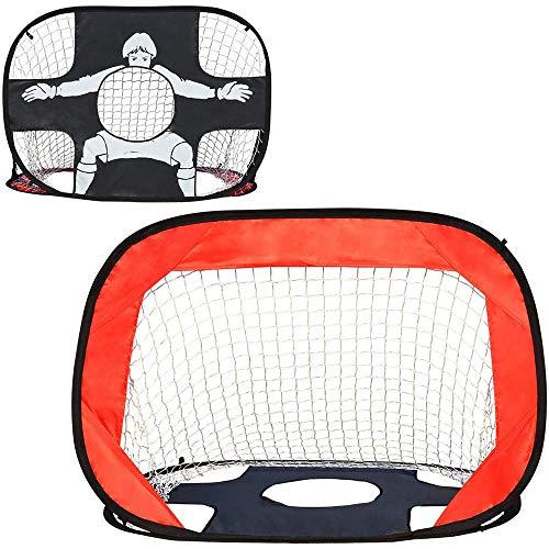 W.KING 2 en 1 de fútbol de Puerta para niños Plegable y Toy Net fútbol portátil emergente con Bolsa de Transporte hogar Cubierta al Aire Libre del Patio Trasero del jardín