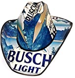 Beer Box Cowboy Hat Made from Recycled Busch Light Beer Boxes Blue