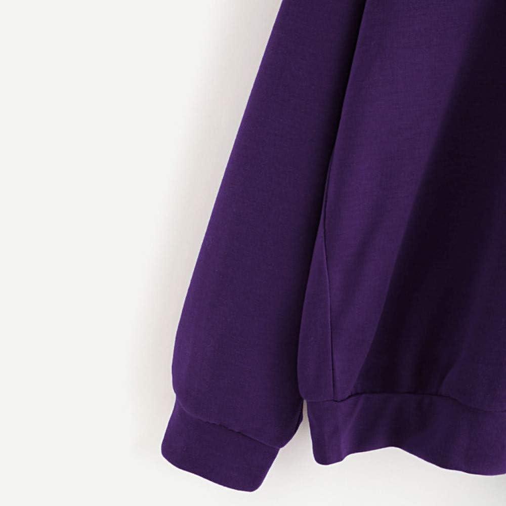 FOTBIMK Sweat Fille Ados,Sweat /À Capuche Femme Manches Longues Lettre Imprim/ée Poche-Sweat-Shirt A Capuche Femme Sweatshirt Hoodies
