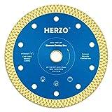 HERZO Disco diamantato 115mm, disco diamantato per il taglio di porcellana, ceramica dura, piastrelle, marmo, granito, calcare