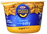 KRAFT Macaroni & Cheese Dinner Cup Easy Mac Original, 58 grams Cups (Pack of 12)...