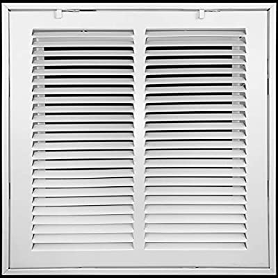 Steel Return Air Filter Grille by HANDUA | Removable Face Door HVAC Duct Cover Grill for 1-inch Filter, White