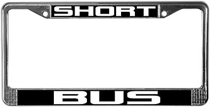 CafePress Short Bus Chrome License Plate Frame, License Tag Holder