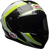 Bell Racestar, Casco per Moto Uomo, Sector White/Hi Viz Green, L