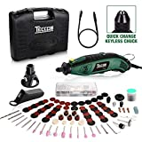 TECCPO Rotary Tool Kit 1.5 amp, 6 Variable Speed with Flex...