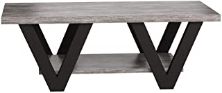 Coaster Home Furnishings Angled Leg Coffee Table, Black and Grey