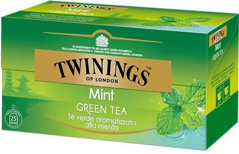 Twinings Té Verde Menta - Selección de Té Verde Ligero y Refrescante Adornado con Delicados Aromas de Frutas y Hierbas (25 Bolsas)