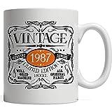 Tasse en porcelaine Vintage drôle née en 1987 tasse   Idée de cadeau...