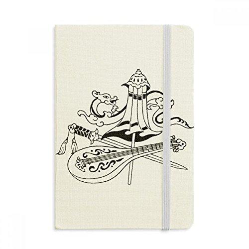 DIYthinker Chinese Paraplu Zwaard Draak Tekening Notebook Stof Hard Cover Klassieke Dagboek A5 A5 (144 X 210mm) Multi kleuren