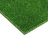Balkon-Rasen Kunstrasen im Festmaß - SPRING, 4,00m x 1,50m, 7mm Höhe, Wasserdurchlässiger Outdoor Bodenbelag, Rasen-Teppich