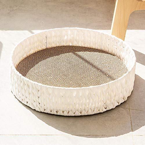 Hundebett Tierbett Katzenbett Hundesofa Katzensofa Kissen Flauschig, Weich u. Waschbar für Katzen Hunde -Mond weiß_42 * 10 cm