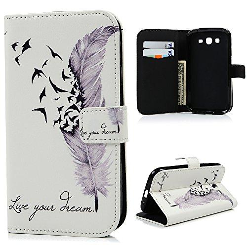 YOKIRIN - Custodia a portafoglio per Samsung Galaxy Grand Plus / Grand Neo / Grand Lite GT-I9060I i9062 i9082 (5 pollici), in pelle PU