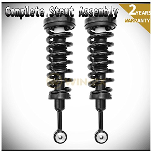 WIN-2X New 2pcs Front Left & Right Side Quick Complete Suspension Shock Struts & Coil Springs Assembly Kit Fit 04-08 Ford F150 06-08 Lincoln Mark LT 4WD Only