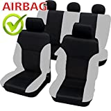 akhan SB101–Calidad Asiento de Coche Asiento Fundas schonbezüge DGX650con airbag Lateral Negro/Gris